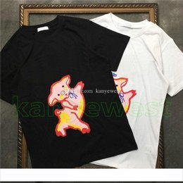 shirt pig print Australia - 2019 Spring Summer Luxury Europe Italy High Quality mens Pig print T shirt Fashion tshirts Women letter print T Shirts Casual Cotton Tee Top