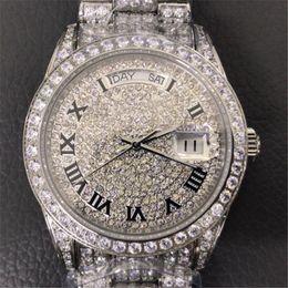 $enCountryForm.capitalKeyWord Australia - Full diamond 41mm 18k luxury watch automatic movement mens watches designer Wristwatches top quality 316 Stainless steel montre de luxe