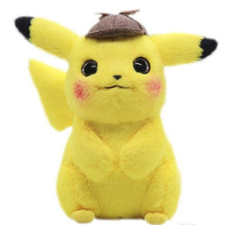 Wholesale 28cm Detective Pikachu Plush Toy High Quality Cute Anime Plush Toys Children s Gift Toy Kids Cartoon Peluche Pikachu Plush Doll