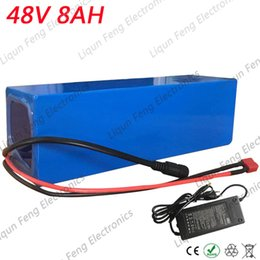Lithium battery packaging online shopping - EU US No Tax V AH W Electric Bicycle battery Lithium Battery with soft package blue PVC case with A BMS V A charger