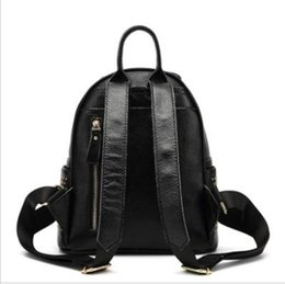 $enCountryForm.capitalKeyWord Australia - 2018 New Genuine Leather School Bags For Teenage Girls Fashion Style Designer Brands Rivets Bee Travel Backpack Sac A Dos Femme