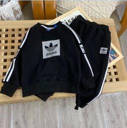 VelVet suit baby online shopping - AD Brand Clothes Sets Velvet Girls Boys Autumn Winter Children Clothing Sets Kids Tracksuits Clothing Set Suit Baby coats pants Sets M112730