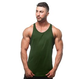$enCountryForm.capitalKeyWord NZ - hot mens t shirts Summer Cotton Slim Fit Men Tank Tops Clothing Bodybuilding Undershirt Golds Fitness tops tees