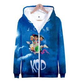 Pink Zipper Hoodies Australia - J.Cole New Album KOD 3D Printed Zipper Hoodies Women Men Fashion Long Sleeve Hooded Sweatshirts 2019 Hip Hop Streetwear Clothes