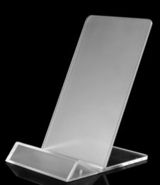 show iphone NZ - Universal General Clear Transparent Acrylic Mount Holder Display Stand Shown for iphone Samsung Cellphone Mobile Phone