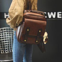 $enCountryForm.capitalKeyWord Australia - Women Backpack Female Brand Back Pack College Style Leather Backpack School Backpacks Vintage Student Schoolbag Retro Rucksack Y19061204
