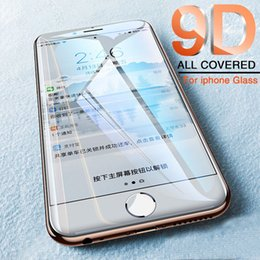 mirror glass iphone case NZ - New 9D Full Cover Protective Glass on the For iPhone X XR XS Max iPhone 8 7 6 6s Plus Tempered Screen Protector Glass Film Case