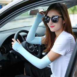 $enCountryForm.capitalKeyWord Australia - 1 Pair UV Protection Arm Sleeve Cycling Running Fishing Clambing Driving Arm Cover Women Sleeves Arms Cooling Fashion Hot Sale p