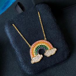 $enCountryForm.capitalKeyWord Australia - 2019 hot new female favorite rainbow necklace female clavicular chain design sense pendant silver jewelry best gift to girlfriend