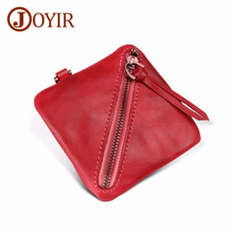 Discount best leather wallets for women - New Fashion Coin Purses Wallets for Men Women Genuine Leather Small Mini Bag Zipper Change Money Woman's pack whole