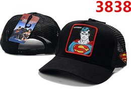 hip hop cap snapback batman 2019 - Hot Sale Men Women Designer Summer Many Style adult Cartoon Snapback Mesh Superman Batman Spider-Man Baseball Cap Hip-Ho