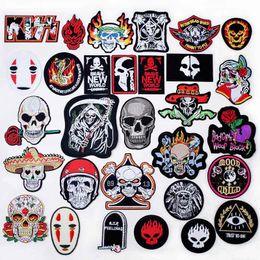 $enCountryForm.capitalKeyWord NZ - Skull Bones Death Iron on clothes stitch sew seam cloth textile adornment decoration garnish of coat topcoat jacket trousers bag