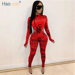 Wholesale sexy birthday outfits resale online - ZOOEFFBB Two Piece Set Women Fall Winter Rave Festival Clothing Bodysuit Top Pant Matching Sets Sexy Club Birthday Outfits