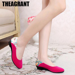 $enCountryForm.capitalKeyWord Australia - Shoes THEAGRANT 2019 Spring Women Wedge Summer Mom Print Heel Pumps High Heels Casual Slip On Ladies WHH3006