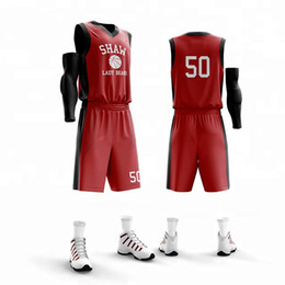Men Short Sets Polyester Australia - customize men Basketball Jersey sets number name Sports clothing top shorts team play breathable suit Uniforms print jersey