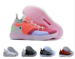 kevin durant shoes orange blue 2019 - 2018 New KD 11 Basketball Shoes Black Grey Persian Violet Chlorine Blue Sneakers Kevin Durant 11s Designer Mens Trainers