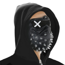 Plastic wrenches online shopping - Game Watch Dogs WD2 Mask Marcus Holloway Wrench Cosplay Rivet Face Mask Half Face PVC Plastic Mask Party Cosplay Props