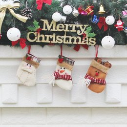 $enCountryForm.capitalKeyWord Australia - Christmas Tree Hanging Ornaments Crafts For Home Decor Merry Christmas stockings Santa Pendant Party Supplier Adornos De Navidad