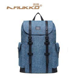 6af1d5edfd3 Kaukko Bags Australia - Kaukko Imitation Linen Men Big School Backpack  Large Capacity Travel Bag Mochila