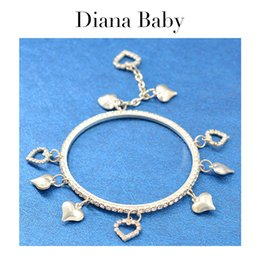 Diana jewelry online shopping - Diana Baby Jewelry Round Bangle For Women High Quality Bangle Heart Bracelet For Party Wedding Jewelry Romantic Findings