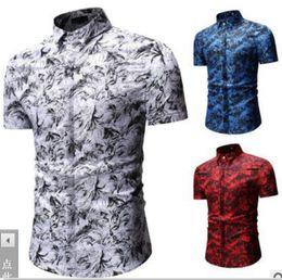 $enCountryForm.capitalKeyWord Australia - New type Men's Clothes Short-sleeved Shirts Printed coat Casual jacket polos Hair Stylist tees Leisure Nightclub 3 colour large size M-3XL