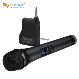 wireless microphone channels Australia - FIFINE UHF 20 Channels Handheld Dynamic Microphone Wireless mic System for Karaoke & House Parties Over the Mixer,PA System etc
