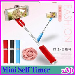 Monopod Stick Australia - Hot AMS-Lipstick Selfie Stick Mini Self Timer Rod Wire Monopod Telescopic Artifact Self Timer Lever For Mobile Phone Universal 30pcs ZY-ZP-1