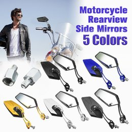 Side motorcycle online shopping - Auto Aluminum Rod Side Mirrors Aluminum Rod Rearview Side Mirrors Portable Motorbike Motorcycle MM