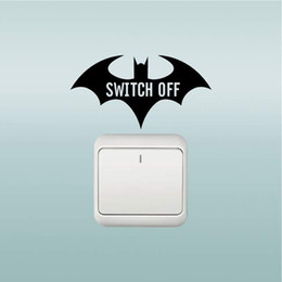 batman car window 2019 - 12*6.3CM Batman silouette classic car wall switch decal CA-689
