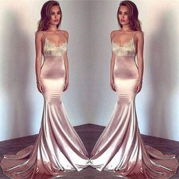 $enCountryForm.capitalKeyWord Australia - 2018 Sexy Straps Spaghetti Scoop Neckline Mermaid Prom Dresses Lace Top Sexy Sleeveless Backless Formal Party Evening Gowns Cheap