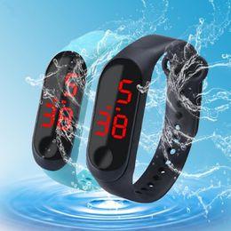 Kids Smart Watches Child Australia - Xiaomi Digital Led Smart Watch Waterproof Wristbands mi 3 tpe Bracelet Silicone Electronic Wristwatches Children Students Kids Sports DHL