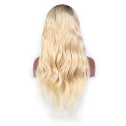 Wig color 613 online shopping - Remy Brazillian Body Wave Lace Front Wig B Ombre Blonde Colored Preplucked Lace Wig Human Hair Deep Part