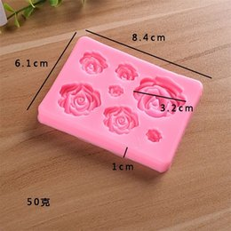 Rectangle soap mould online shopping - Different Sizes Seven Roses Cake Mould Pink Food Grade Silica Soap Molds Easy To Clean Rectangle Baking Products cdb1