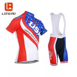 Best Seller For LONG AO Jersey Stati Uniti maglia ciclismo USA Bandiera Nazionale abbigliamento abbigliamento bici equitazione racing ropa ciclismo XS - 5XL