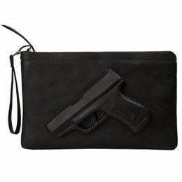 $enCountryForm.capitalKeyWord UK - 3D Print Gun clutch purses Leather Handbags women evening clutches Designer Party woman messenger bags ladies Envelope hand bag