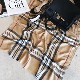 Luxury cashmere brands online shopping - Luxury Winter Cashmere Scarf Pashmina For Women Brand Designer Mens warm Plaid Scarf Fashion Women imitate Cashmere Wool Scarves x70cm