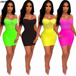 Neck aNkle chaiNs online shopping - 2019 new women summer mesh see though splicing chain spagehtti strap bodycon midi skirt two piece set dress GLXYZ3240