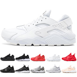 Pink black huarache shoes online shopping - new huarache mens running shoes triple black white red pink fashion huaraches mens trainers women sports sneaker