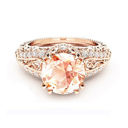 $enCountryForm.capitalKeyWord Australia - Simple Designer, Simple Happiness For You Solitaire Rings Sunflower 18K Rose Gold Plated Tin Alloy Unique Elegant Designer Women Jewelry