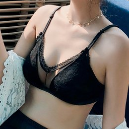 634e5bbcffd98 Sexy Lace Bras For Women Push Up Bra Seamless Bralette Padded Lingerie  Transparent Cup Brassiere Wire Free Underwear