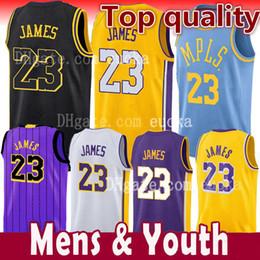 2018-2019 Neue Saison Männer Jugend Kinder 23 LeBron James Jersey 0 Kyle Kuzma 77 Luka Doncic James 2 Ball der Stadt Basketball-Trikot