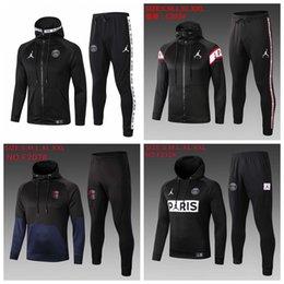 Ingrosso 2019 2020 giacca con cappuccio psg Survêtement 1.920 adulti tuta allenamento di calcio tuta da calcio Mbappe giacca aria giacca di calcio