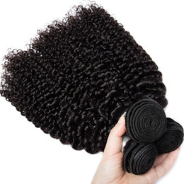 Hair extensions kinky curl online shopping - 3 bundles Indian Kinky Curl Unprocessed Human Virgin Hair Weaves A Quality Remy Human Hair Extensions Weaves Dyeable Unprocess Hair