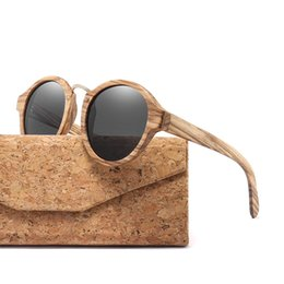 2c1ed0a36f4fe 2018 Zebra Wood Sunglasses For Men Women Retro Round Sun Glasses Polarized  Lens UV400 with Case