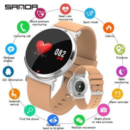 bluetooth silicone smart watch Australia - SANDA New Bluetooth Sports Smart Watch Men Heart Rate Blood Pressure Oxygen Smartwatch Women for IOS Android Waterproof Silicone