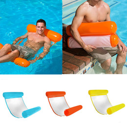 inflatable pool chair floats Australia - Swimming Pool Float Chair 6 colors Floating Water Hammock Inflatable Floating Bed Beach Swimming Pool Lounge Float Bed free FEDEX TNT
