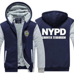 bcb44135a winter hoody NYPD New York Police Department Men women Thicken autumn  Hoodies clothes sweatshirts Zipper jacket fleece hoodie streetwear