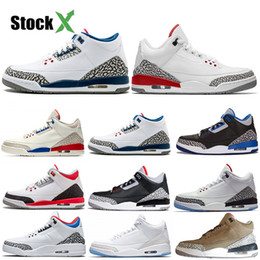 sneakers korea women NZ - 2020 3s Black White Cement Tinker 3 Cat Bred Concord UNC Jumpman III Men Women Basketball Shoes Seoul Korea Sports Sneakers