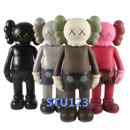 Best Robot Gift Australia - 2019 Hot 14.57''Originalfake Action Figure KAWS 6 Colors Black   brown   gray   red Original Fake Kaws Thinker Best Gifts With 37cm