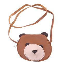 9c46cc2692 Cute Cartoon Bear Shape Girls Handbags PU Leather Shoulder Bag Brand  Designer Baby Girls Mini Crossbody Bags Kids Messenger Bag